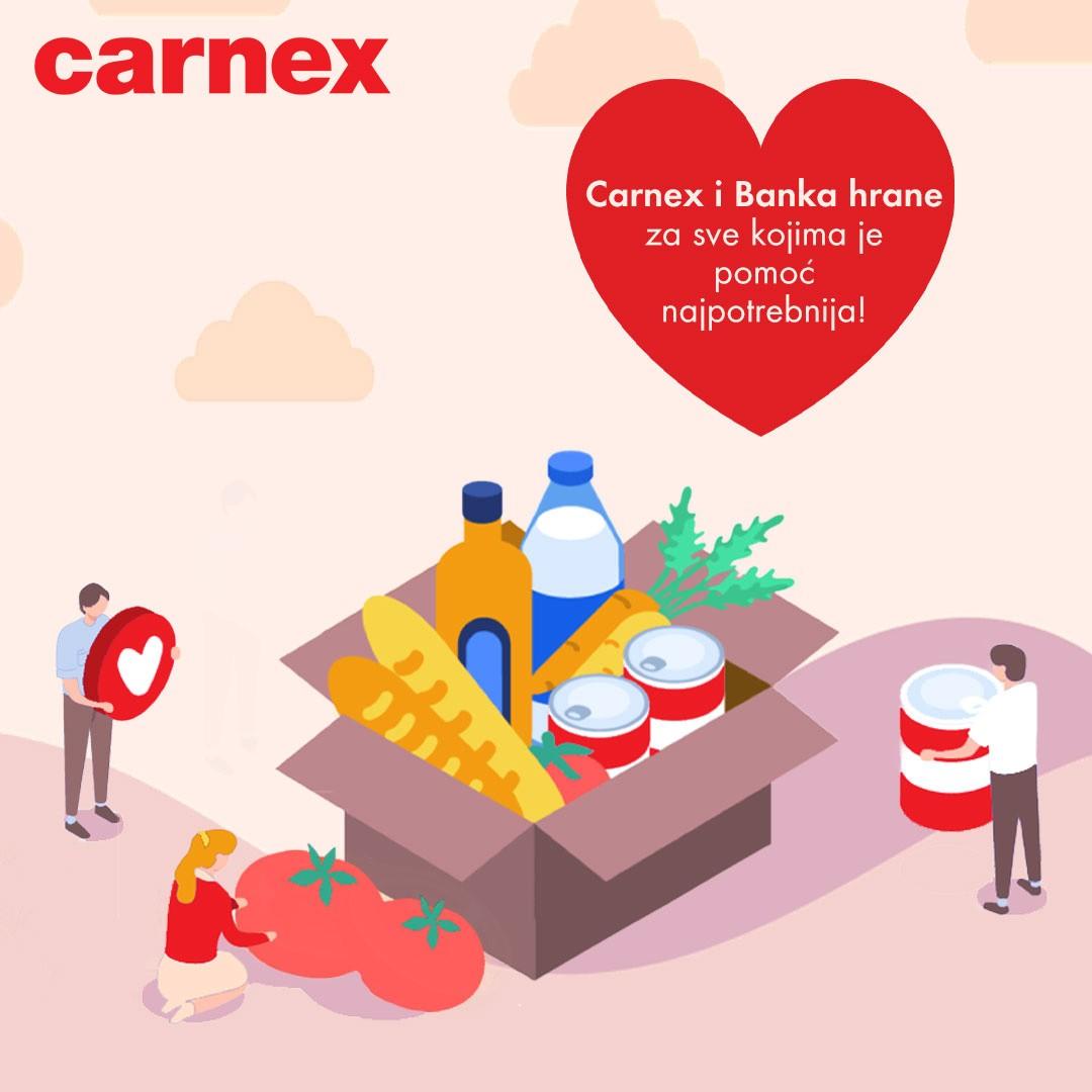 Carnex donirao 5,5 tona proizvoda Banci hrane za najugroženije